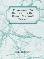 Commentar Zu Kants Kritik Der Reinen Vernunft