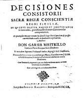 Decisiones Consistorii Sacrae Regiae Conscientiae Regni Siciliae