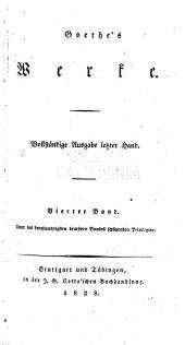 Goethe's werke: Band 4