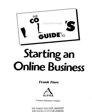 The Complete Idiot s Guide to Starting an Online Business PDF
