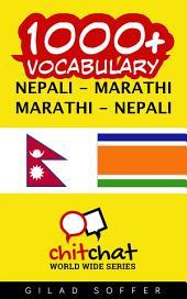 1000+ Nepali - Marathi Marathi - Nepali Vocabulary