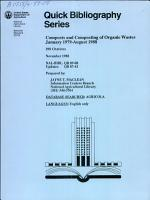 Composts and Composting of Organic Wastes  January 1979 August 1988 PDF