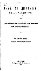 Das Judenthum und seine Geschichte: Band 1