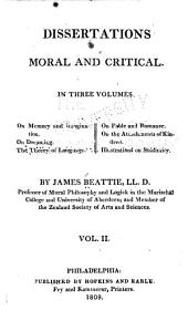 The Works of James Beattie, LL.D.: Dissertations moral and critical