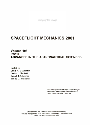 Spaceflight Mechanics 2001