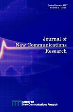 Journal of New Communications Research - Vol. II/Issue 1 - Spring/Summer 2007