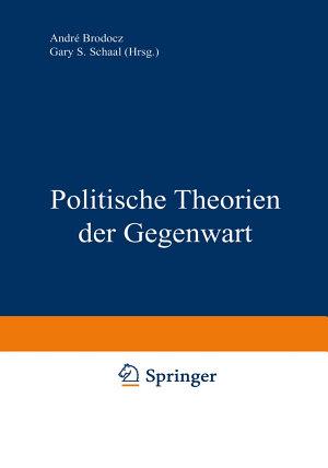 Politische Theorien der Gegenwart PDF