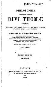 Philosophia, juxta inconcussa tutissimaque Divi Thomae dogmata, logicam, physicam, moralem, et metaphysicam quatuor tomis complectens. Novissime recensuit et edidit Roux-Lavergne: Volumes 1-2