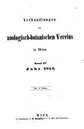 Verhandlungen des Zoologisch-Botanischen Vereins in Wien: Band 4