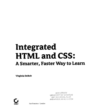 Integrated HTML and CSS