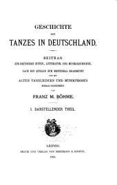 Geschichte des tanzes in Deutschland: Darstellender theil