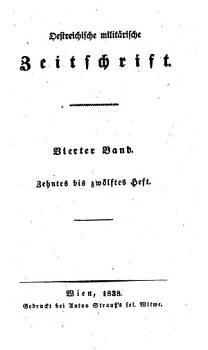 streichische milit  rische Zeitschrift PDF