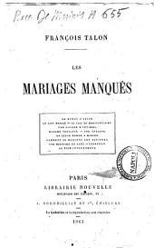 Les mariages manqués François Talon