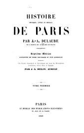 Histoire physique, civile et morale de Paris: Volume1