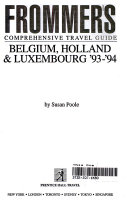 Frommer s Comprehensive Travel Guide  Belgium  Holland   Luxembourg  93  94 PDF