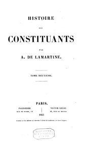 Histoire des constituants: Volume2