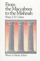 From the Maccabees to the Mishnah PDF