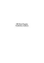 100 Most Popular Nonfiction Authors