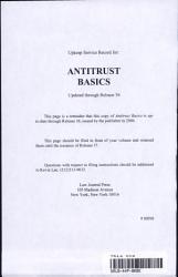 Antitrust Basics Book PDF