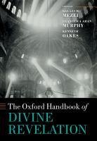 The Oxford Handbook of Divine Revelation PDF