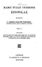 Marci Tullii Ciceronis epistolae, recogn. A.S. Wesenberg