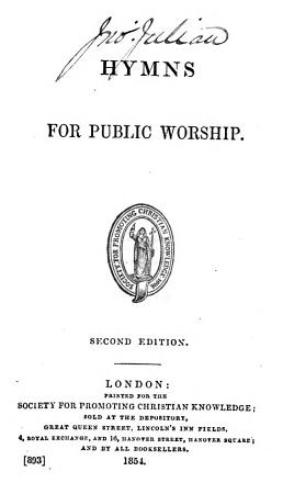 Hymns for Public Worship  Second edition   Edited by T  V  Fosbery   PDF