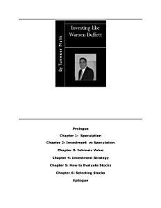 Investing Like Warren Buffett PDF