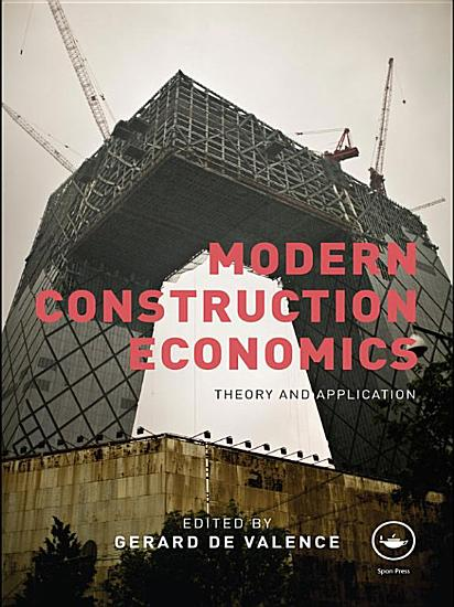 Modern Construction Economics PDF