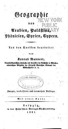 Geographie der Griechen und R  men aus Ihren Schriften PDF