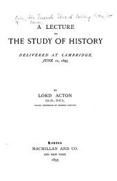 A Lecture on the Study of History