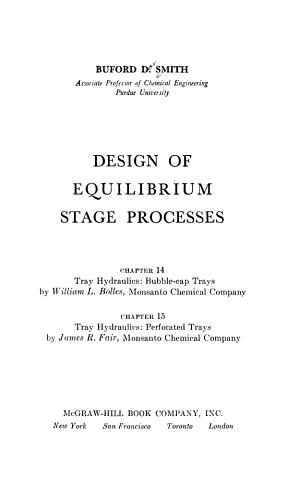 Design of Equilibrium Stage Processes