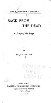 Back from the Dead: A Story of the Stage