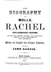 The Biography Of Mdlle Rachel Book PDF