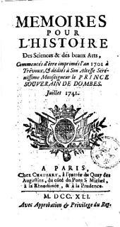 Mémoires pour l'histoire des sciences et des beaux-arts: Volume162;Volume1741