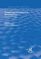 Development and Security in Southeast Asia PDF