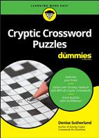 Cryptic Crossword Puzzles For Dummies PDF