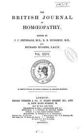 The British Journal of Homoeopathy: Volume 26