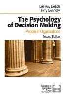 The Psychology of Decision Making PDF
