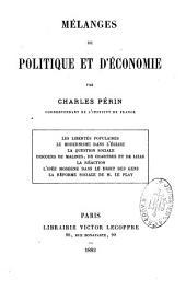 Mélanges de politique et d'économie