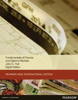 Fundamentals of Futures and Options Markets Pearson New International Edition PDF