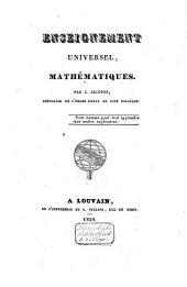 Enseignement universel: Mathématiques