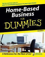 Home Based Business For Dummies PDF
