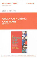 Nursing Care Plans   Elsevier eBook on VitalSource  Retail Access Card  PDF