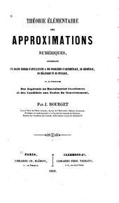 Théorie élémentaire des approximations numériques