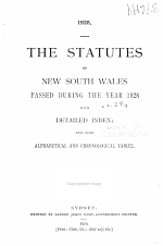 The statutes of New South Wales