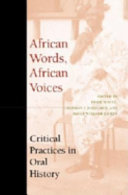 African Words  African Voices PDF
