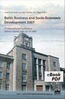 Baltic Business and Socio Economic Development 2007 PDF