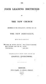 Four Leading Doctrines of the New Church, Signified by the New Jerusalem in the Revelation