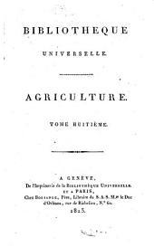 Bibliothèque universelle des sciences, belles-lettres, et arts: Volume8