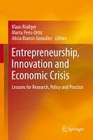 Entrepreneurship  Innovation and Economic Crisis PDF